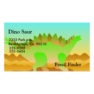 Dino Rawr Set Double-Sided Standard Business Cards (Pack Of 100)