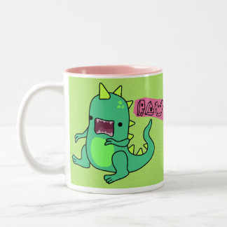 Dino Rawr Two-Tone Coffee Mug