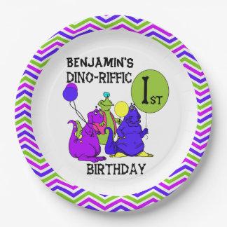 Dino-Riffic 1st Happy Birthday Paper Plates