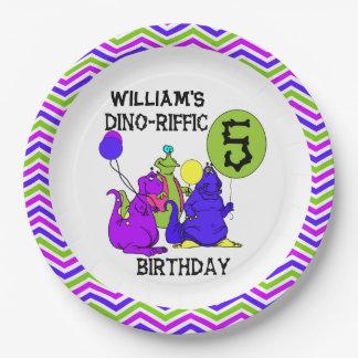 Dino-Riffic 5th Happy Birthday Paper Plates