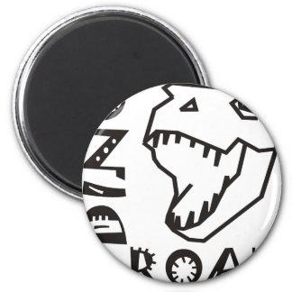 Dino Roar 2 Inch Round Magnet