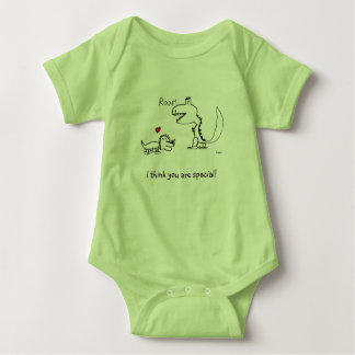 Dino Roaring, Red Heart, Your Special Baby Bodysuit