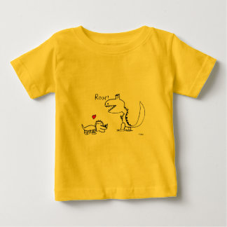 Dino Roaring, Red Heart, Your Special Baby T-Shirt