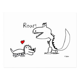 Dino Roaring, Your Special Postcard