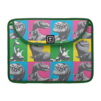 Dino Silhouette Four Square Sleeve For MacBooks