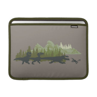 Dino Silhouettes Running MacBook Sleeve