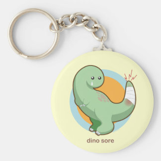 Dino Sore Basic Round Button Keychain