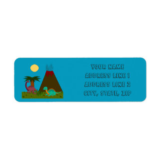 Dino Style - Personalize Label