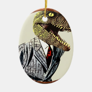 Dino suit ornament
