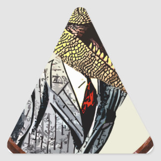 Dino suit triangle sticker
