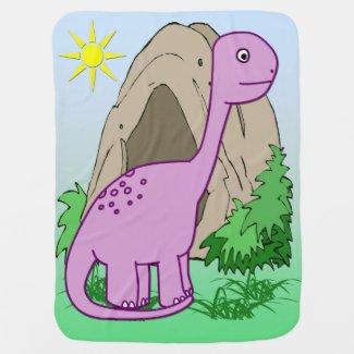 Dino the Dinosaur Cute Baby Blanket