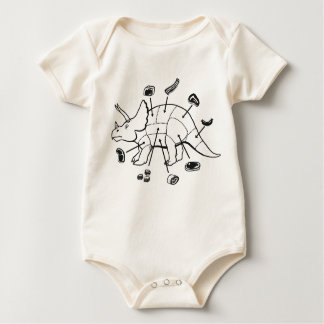 Dino, The Other White Meat baby  bodysuit/creeper Baby Bodysuit