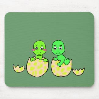 Dino Twins Mouse Pad