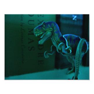 """Dino verde invitación 4.25"""" x 5.5"""""""