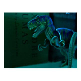 Dino verde tarjetas postales