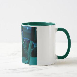 Dino verde taza