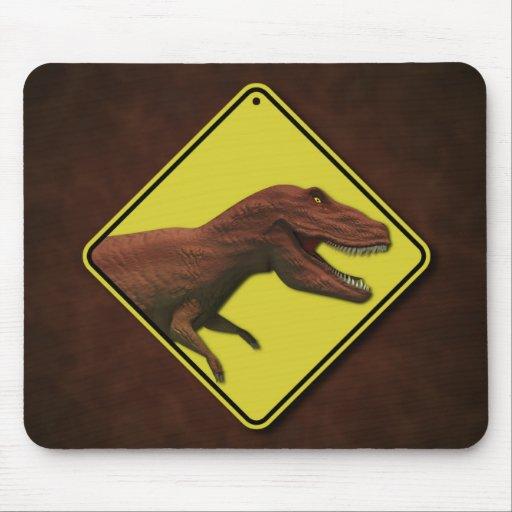 Dino Warning Mousepad