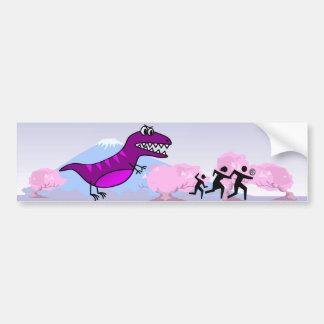¿Dino WTF? Pegatina para el parachoques Pegatina De Parachoque