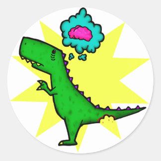 Dino Zombie Sticker