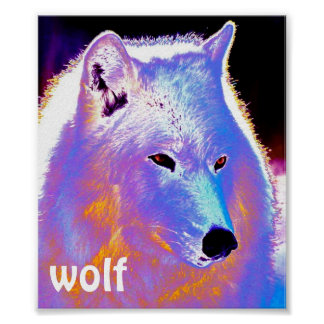 DinoAmarillo Wolfie Wolf Poster