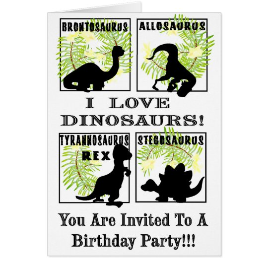 Dinobites Birthday Party Invitaitons ! Card