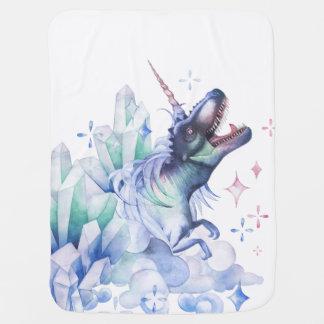 Dinocorn Baby | Crystal Fantasy Dinosaur Unicorn Baby Blanket