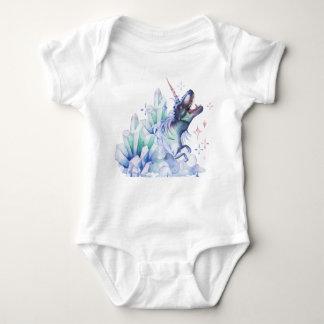Dinocorn Baby | Crystal Fantasy Dinosaur Unicorn Baby Bodysuit