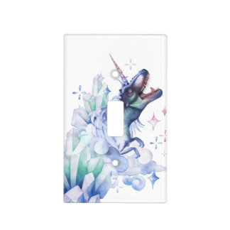 Dinocorn Baby | Crystal Fantasy Dinosaur Unicorn Light Switch Cover