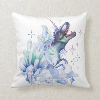 Dinocorn Baby | Crystal Fantasy Dinosaur Unicorn Throw Pillow