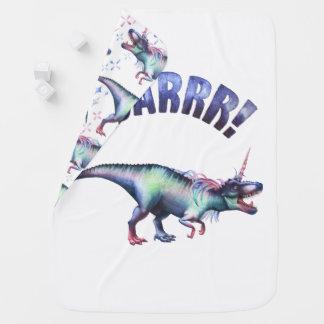 Dinocorn Baby | Fantasy Roaring Dinosaur Unicorn Baby Blanket