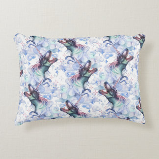 Dinocorn Clouds Decor | Fantasy Unisaur T-Rex Dino Accent Pillow