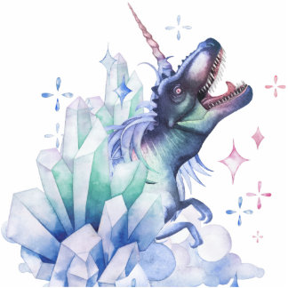 Dinocorn Decor | Crystal Fantasy Dinosaur Unicorn Cutout