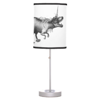 Dinocorn Decor | Monochrome Unicorn Dinosaur Roar Desk Lamp