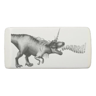 Dinocorn Fantasy Monochrome Cute Dinosaur Unicorn Eraser