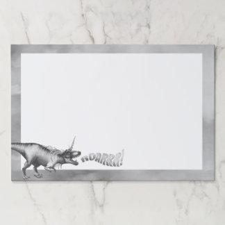 Dinocorn Fantasy Monochrome Cute Dinosaur Unicorn Paper Pad