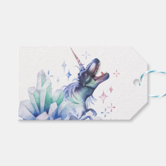 Dinocorn Party | Crystal Fantasy Dinosaur Unicorn Gift Tags