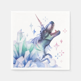 Dinocorn Party | Crystal Fantasy Dinosaur Unicorn Napkin
