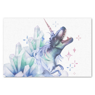 Dinocorn Party | Crystal Fantasy Dinosaur Unicorn Tissue Paper
