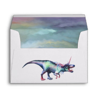 Dinocorn Party | Roaring Magical Unicorn Dinosaur Envelope