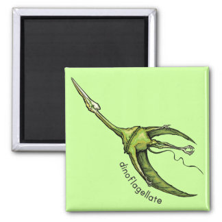 Dinoflagellate 2 Inch Square Magnet