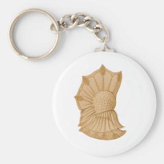 Dinoflagellate Basic Round Button Keychain