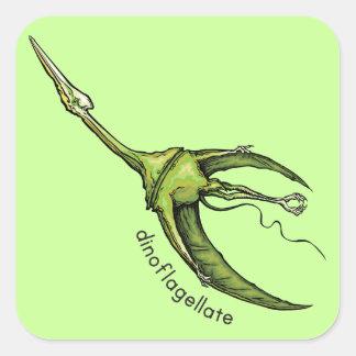 Dinoflagellate Square Stickers