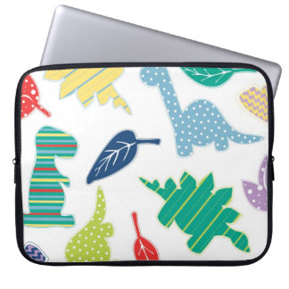 Dinomite! Cute Colorful Dinosaur Pattern Laptop Sleeve