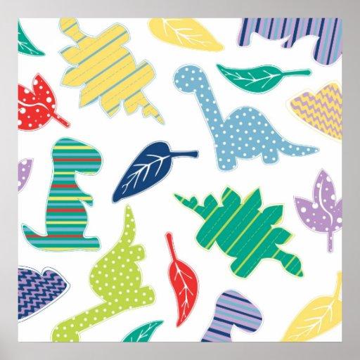 Dinomite! Cute Colorful Dinosaur Pattern Print