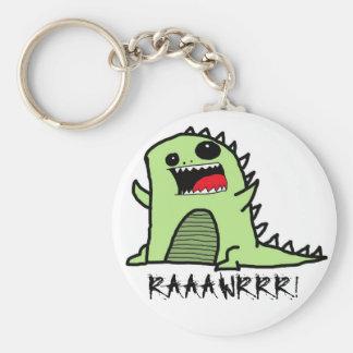 Dinoraawrr Basic Round Button Keychain