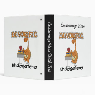 Dinorific Kindergartener T-shirts and Gifts Binder