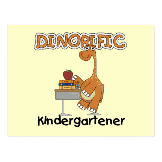 Dinorific Kindergartener T-shirts and Gifts Postcard