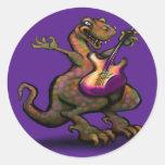 DinoRock Classic Round Sticker