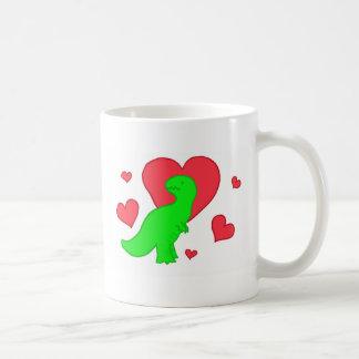 Dinos are love coffee mug