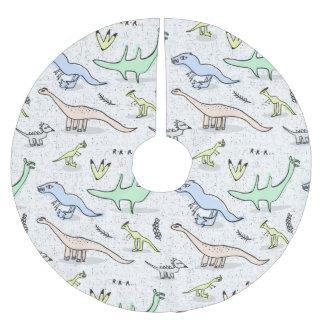 Dinos Brushed Polyester Tree Skirt